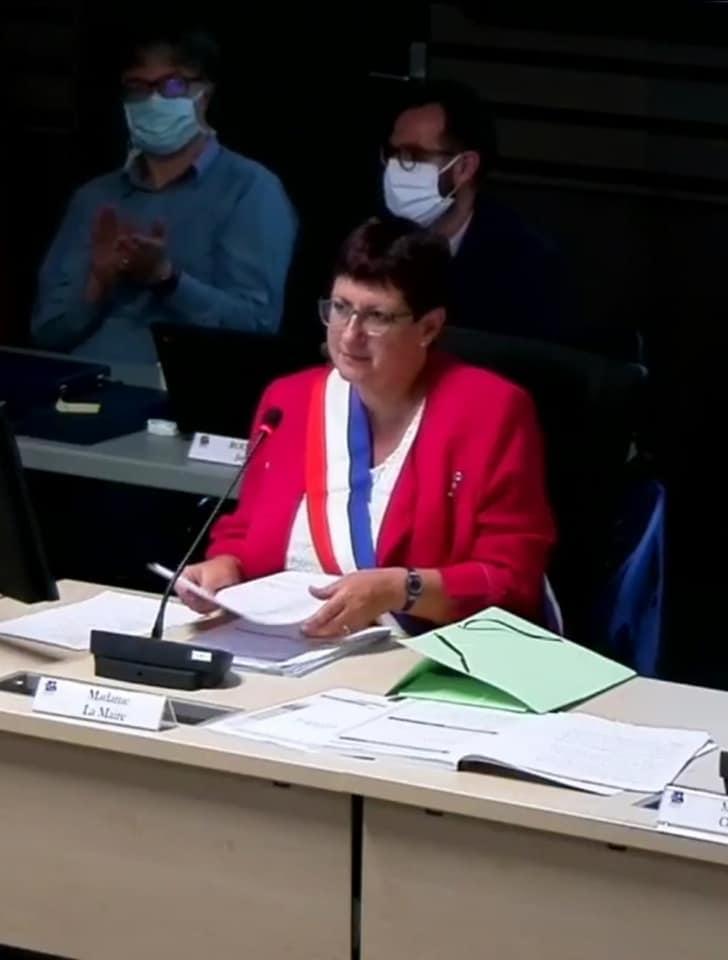 Premier discours de la nouvelle Maire d'Eaubonne